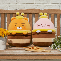 [카카오 프렌즈] 허니프렌즈 말랑 쿠션⭐[Kakao Friends] Honey Friends Mochi Cushion Apeach Ryan⭐
