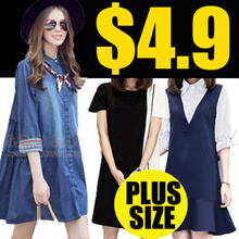 Clearance sale 4.9!!! Limited-time preferential !2018 NEW FASHION PLUS SIZE DRESS