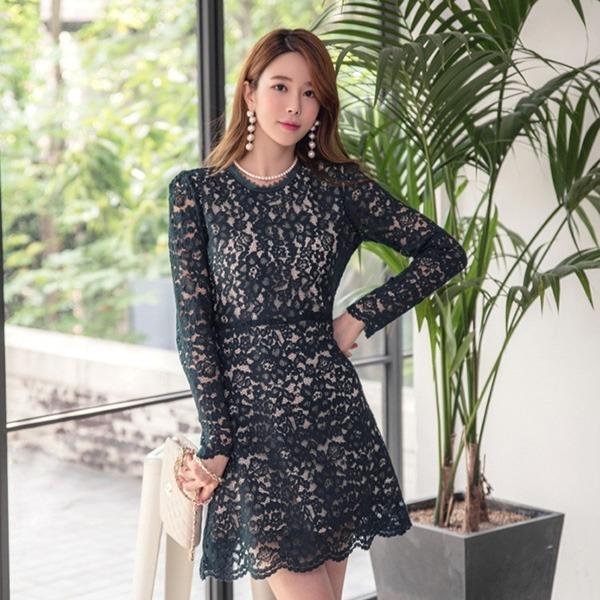 マスターレースフレアワンピースnew フレアワンピース/ワンピース/韓国ファッション
