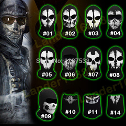 Back To Search Resultsapparel Accessories Symbol Of The Brand 2016 New Camo Ghost Skull Full Face Mask Tactic Camouflage Special Forces Airsoft Wargame Cs Breathable Fabric Cap Hot Sale Men's Skullies & Beanies