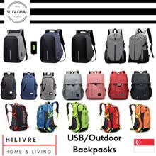 [SG SELLER] Anti theft Unisex USB Korea Japan design  backpack and school bags/backpack