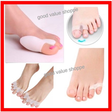 ★ $2.99 ★ 1Pair (2pcs) SuperSoft Big Toe Pinky Separator Bunion Straightener Corrector Heel Cushion