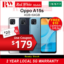 Oppo A15s 4/64GB-Oppo Singapore 2 Years Warranty