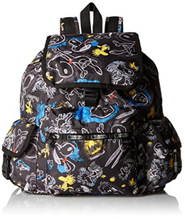 (LeSportsac) LeSportsac Women s Voyager Backpack- (Color:Chalkboard Snoopy)