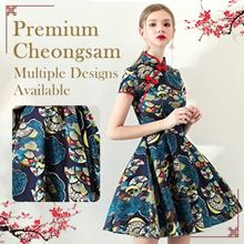 💕 READY STOCK 💕2019 PREMIUM Modern Cheongsam/Qipao/ CNY Dress/Embroidery DRESS