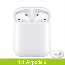 NEW PK Apple Airpods 2 Wireless Earbuds 1:1 Bluetooth Headphones for iP Android w/Wireless charging