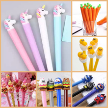 [my1stshop]Unicorn/Gudetama/Totoro/Super Hero/Carrot Character Pen/Mickey/Donut Erasable Pen