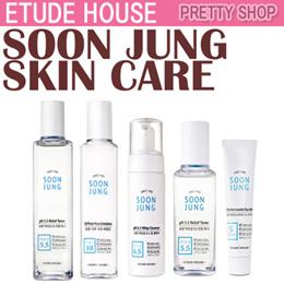 ★ETUDE HOUSE★ Soon Jung Skincare/Relief Toner/Moist Emulsion/Intensive Cream/Cica Balm/pH Cleanser