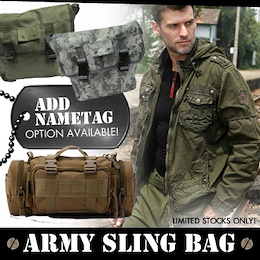 Sling Bag/Camping/Fishing/Gifts/Popular in Singapore/Special Add On Nametag/Sewing