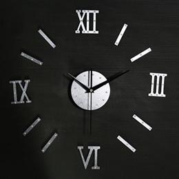 Unique Fashion Wall Mirror Clocks 3d Diy Clocks Watch For Home Decoration Very Queit