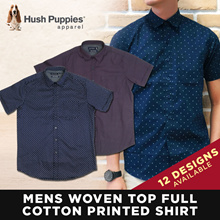 Hush Puppies Mens Woven Top Full Cotton Printed Shirt | 12 Designs! | Free Delivery!