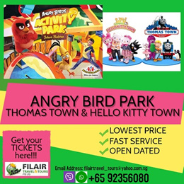 Crazy Sale !!! ANGRY BIRD ACTIVITY PARK +Thomas Town Sanrio Hello Kitty Town (2 Park Pass E-Ticket)
