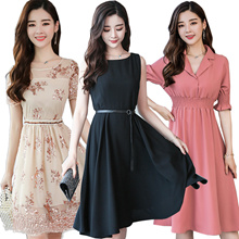 【9th NEW】Premium Dress Korean style Slim lace Chiffon dress/Plus size Dresses/Beach skirt/suit