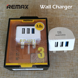 Remax 3 USB Port Fast Charger ◆ Travel Power Adaptor Wall Plug for IOS iPhone Android ◆ SG Seller