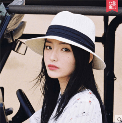 6ff17eff3 Mad hat and Alice straw hat female summer small fresh head cap female hat  sun hat white summer hat