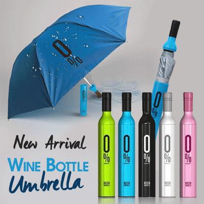 Mode Kreatif Portabel Payung Lipat Tiga Botol Anggur Hitam Daftar Source · Qoo10 Jas Hujan Payung
