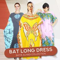 Bat Long Dress Collections / Longdress Lowo / Kalong Batik / Night gown / Batik Alhadi