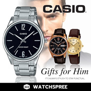 【FATHERS DAY SPECIAL】GIFTS FOR HIM! CASIO Leather N Stainless Steel Watches Men.