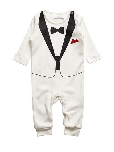 Qoo10 - Gent Style Long Sleeve Baby Boys Romper   Women s Clothing 1db9fa75ea