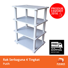 [FREE SHIPPING JABODETABEK]FUNIKA 13160 WH-BK/WH - 3 Tier Storage Shelf