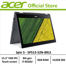 Acer Spin 5 SP513-52N-89LS Convertible Laptop