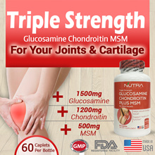 🔥Clinical Dose🔥Triple Strength Glucosamine Chondroitin + MSM 🔥Quick Relieve of Knee Pain