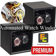 [Funky Creations] Professional Automatic Battery DC Powered Watch Winder Winding Case Japan Motor