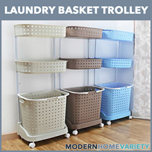 [FREE DELIVERY UNTIL 31/07] NEW 2018 Design Laundry Basket Trolley 2 Tier / 3 Tier