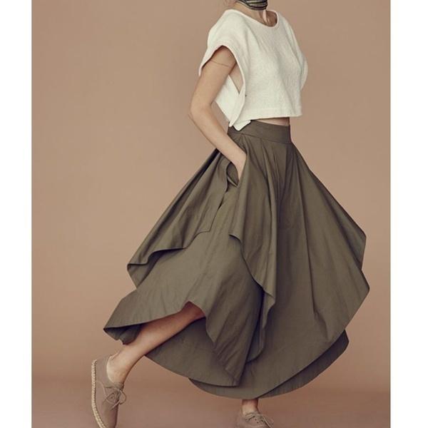 女性のスカートパンツ多層ルーズフレアパンツZB1620