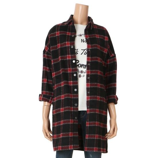 エッチコネクト女性2カラー起毛チェック柄のワンピースYD52A25 面ワンピース/ 韓国ファッション