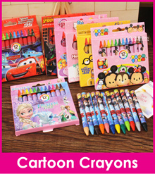 Cartoon Crayon/Cute 12 pieces Colour Crayons/Stationery Set/Christmas Present/Gift Ideas/Goodie Bag