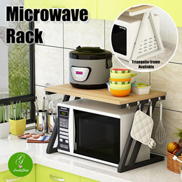 Microwave Rack Stand Kitchen Shelf Storage Oven Organizer