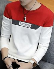 Red White Fashion Print Tshirt