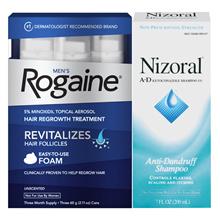 CHEAPEST FRESHEST on Qoo10: NEW Rogaine Hair Loss Treatment Minoxidil Foam Men/Women+Nizoral Shampoo