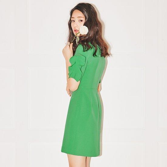 ナインNAINフィンガーフリルのワンピースOP3228 面ワンピース/ 韓国ファッション