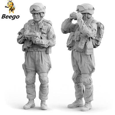 1/35 2 soldiers, Russian Army, Resin Model Soldier GK, Modern military  theme, Unassembled and unpain