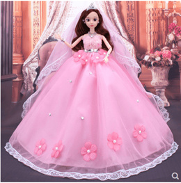 Dress Up 3D Real Barbie Doll Suit Gift Box Wedding dress Doll Girl Princess  Toy Gift 8292198a8fd3