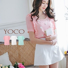 YOCO - Pearl-Trimmed Blouse-6002714