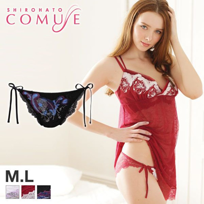 bd60d7187 Qoo10 - Comuse Juno Collection Lace Tie-side Panties (Sizes M-L ...