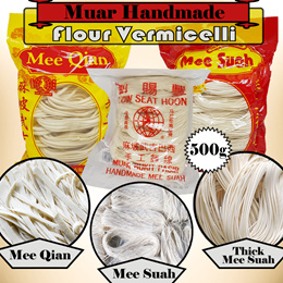 Muar Handmade Flour Vermicelli (500g) 1 Packet for $4.00 ONLY !