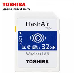 TOSHIBA FlashAir W-04 Wifi Memory SD Card 16GB 32GB SDHC 64GB SDXC Class 10 U3 Memory card For Digit