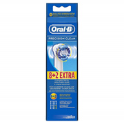 Braun Oral-B EB20-8+2 Precision Clean Replacement Rechargeable Toothbrush 1Pack
