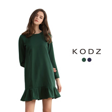 KODZ - Frill Hem Shift Dress-180060