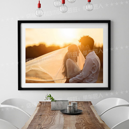 Large photo frame wall hanging photo 20 24 28 30 32 36 inch poster frame A3A4 solid wood picture f