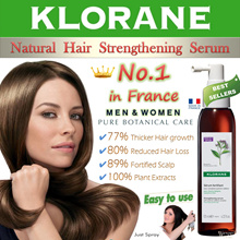 ★No.1 in France★ Klorane Men/Women Botanical Hair Strengthening Serum 125ml. 女人我最大 recommended!