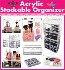 Acrylic Stackable cosmetics orangnizer~Free lipstick~ tool Makeup Storage Organizer jewelry brush