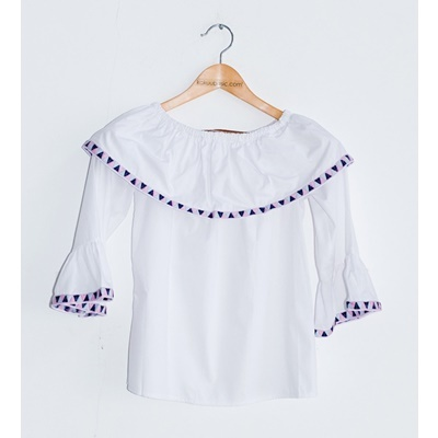 02. off shoulder embroidery blouse-blue-pink-free