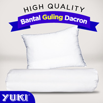 Bantal Dacron dan guling Dacron - YUKI - bantal 600 gr Guling 700 Gr