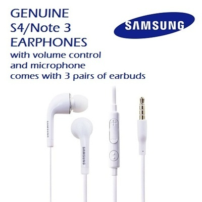 SAMSUNGGenuine Samsung Earphones S4/Note 3 Flat Cable | Microphone Volume  Control 3 Pairs Earbuds