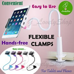 Handsfree Clamp for Tablet/ iPad Phone/Mobile Stand Flexible Long Arm Lazy Man Clip Clamp